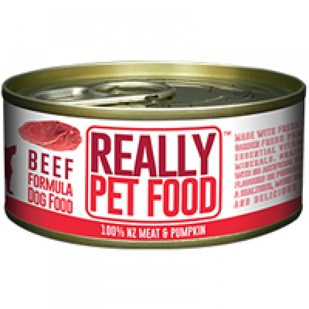 Really Pet Food Beef Canned Dog Food (24x90G)