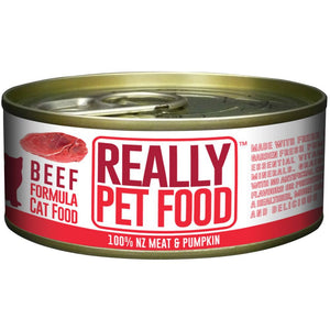 Really Pet Food Beef Canned Cat Food (24x90G)