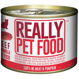 Really Pet Food Beef Canned Cat Food (24x170G)