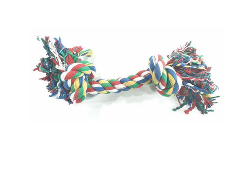 Double Knot Cotton Rope Dogs Chew Toy (20cm)