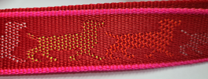 Red Harness with Dog Patterns