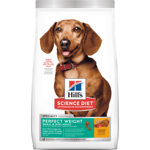 Hill's Science Diet Small & Mini Canine Adult Perfect Weight Chicken Recipe Dog Food (1.81kg)