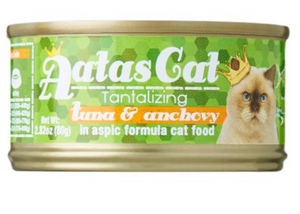 Aatas Cat Tantalizing Tuna and Anchovy In Aspic Canned Food 80g