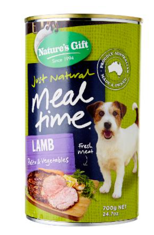 Nature's Gift Meal Time Lamb Pasta And Veg Wet Dog Food (1x700g)