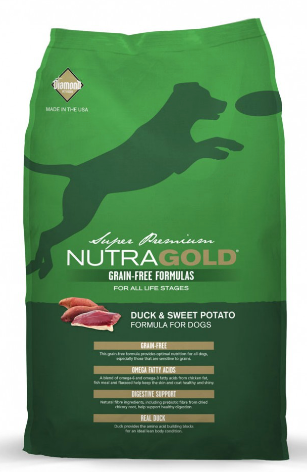 NutraGold Grain Free Duck & Sweet Potato Dry Dog Food 2.25KG