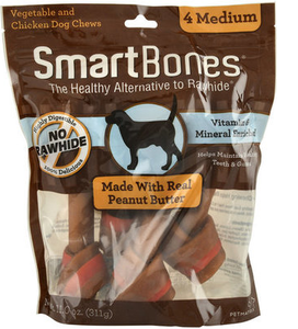 SmartBones Peanut Butter (4 Medium) Dog Treat