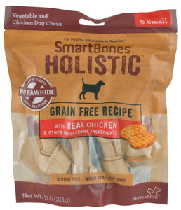 SmartBones Holistic Grain Free Chicken (6 Small) Dog Treats