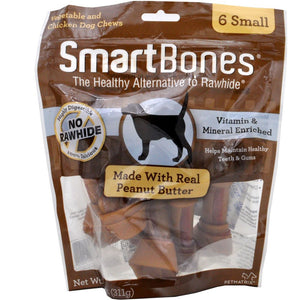 SmartBones Peanut Butter (6 Small) Dog Treats