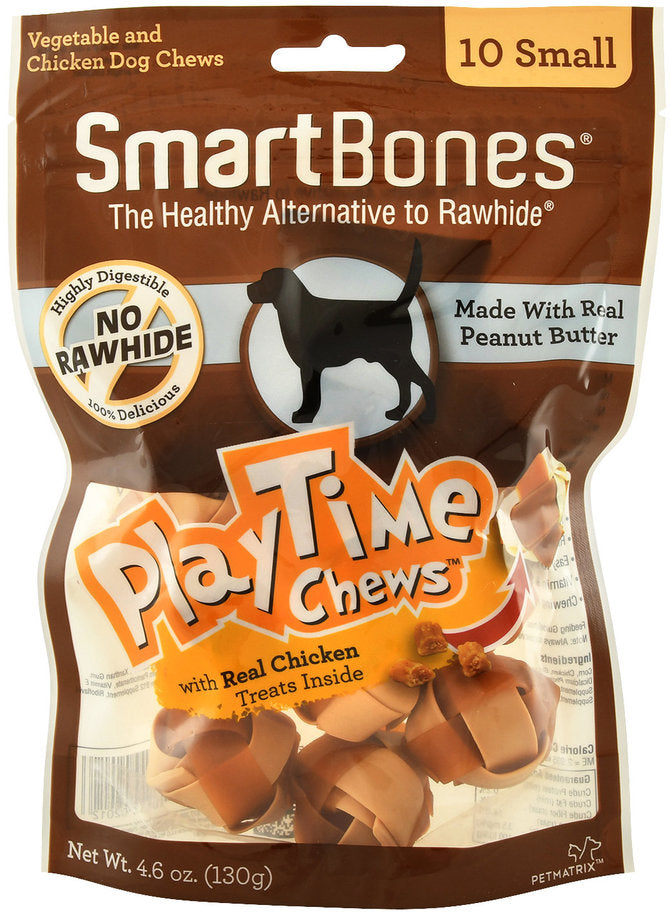 SmartBones Play Time Chews Chicken (10 Small) Dog Treats