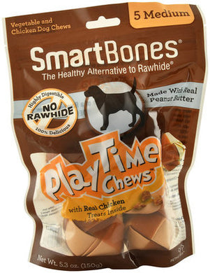 SmartBones Play Time Chews Chicken (5 Medium) Dog Treats