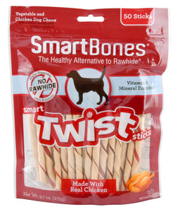 SmartBones Twist Sticks Chicken (50 Sticks) Dog Treats