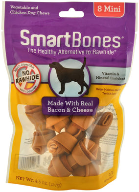 SmartBones Bacon & Cheese (8 Mini) Dog Treats