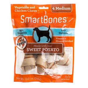 SmartBones Sweet Potato (4 Medium) Dog Treats