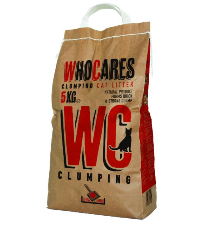 Who Cares Clumping Coarse Granulation Clay Cat Litter 5KG