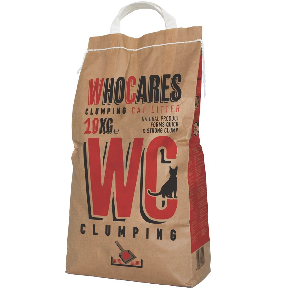 Who Cares Clumping Coarse Granulation Clay Cat Litter 10KG