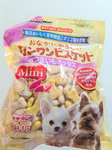 6 x DoggyMan WanWan Biscuits with Milk & Sweet Potato (200g)