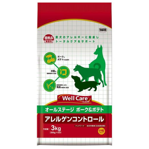 Yeaster Well Care Pork With Potato All Life Stages Dry Dog Food (3KG)