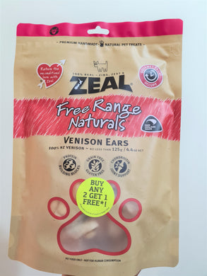 Value Pack 3 x ZEAL Free Range Naturals Vension Ears