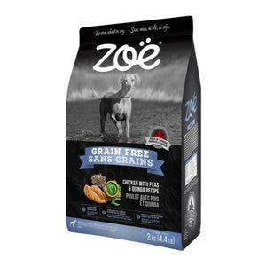 Zoe Grain Free Chicken with Peas & Quinoa Dry Dog Food (2KG)