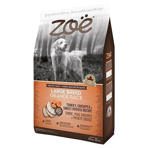 Zoe Turkey, Chickpea & Sweet Potato Recipe Large Breed Dry Dog Food (11.5kg)