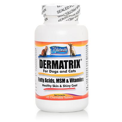 DERMATRIX® Tropical for Dogs & Cats, Fatty Acids, MSM, Vitamins (45 Chewable Tablets)