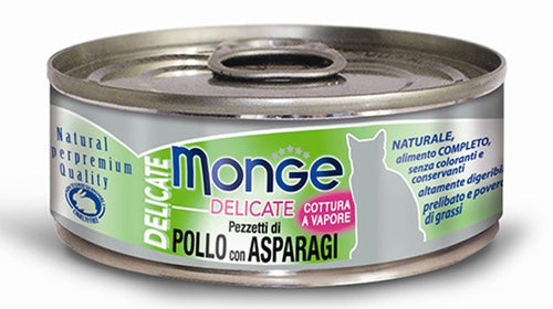 Monge Delicate Chicken With Asparagus Canned Cat Food (6x24x80g)