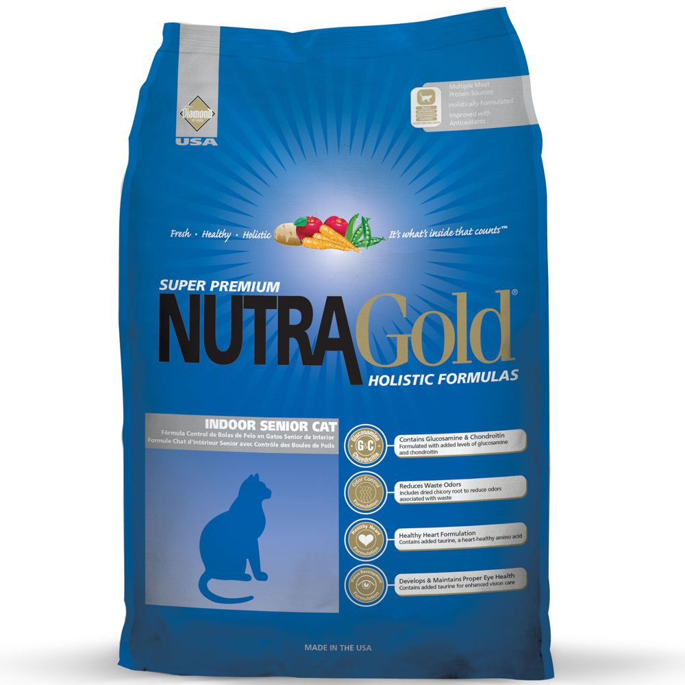 NutraGold Holistic Indoor Senior Dry Cat Food 3KG