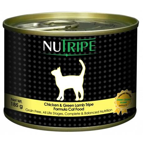 Nutripe Classic Chicken & Green Lamb Tripe with GLM Cat Wet Food