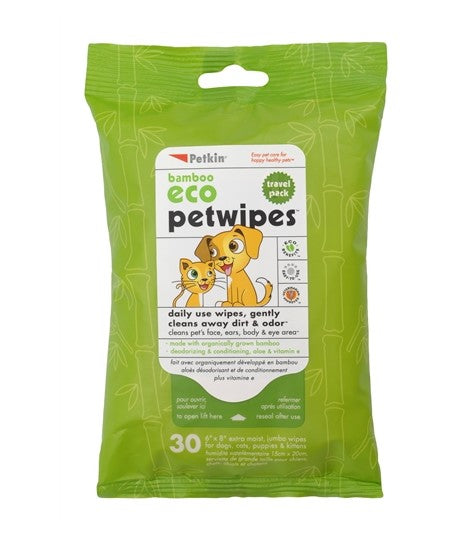 Pet Wipes Travel Pack 30 CT