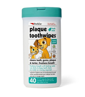 Petkin Tooth Wipes 40CT