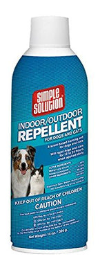 Simple Solution Indoor/Outdoor Repellent for Dogs & Cats, 14 oz (395g). aerosol