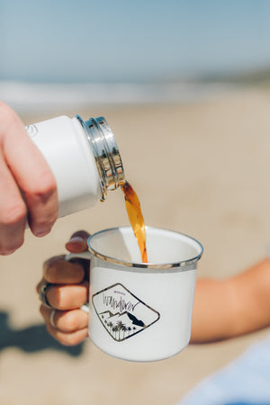 Modish Wanderer White Camp Mug