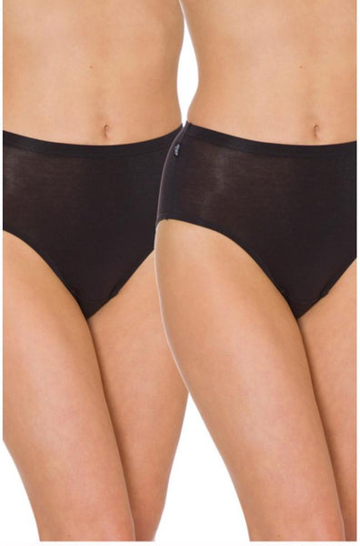Sloggi 2 x Pack Hikini Briefs (Black or Fresh Powder)