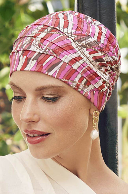Yoga Turban Indian Summer (Pink)