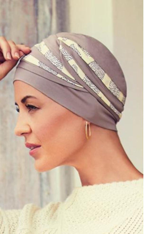 Shanti Turban (Brown & Lemon)