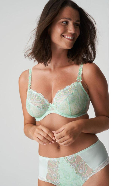 Alalia Lightly Padded UW Balcony Bra (Spring Blossom)