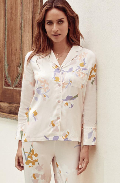 Davina Viscose Sateen PJ Set (Floral)