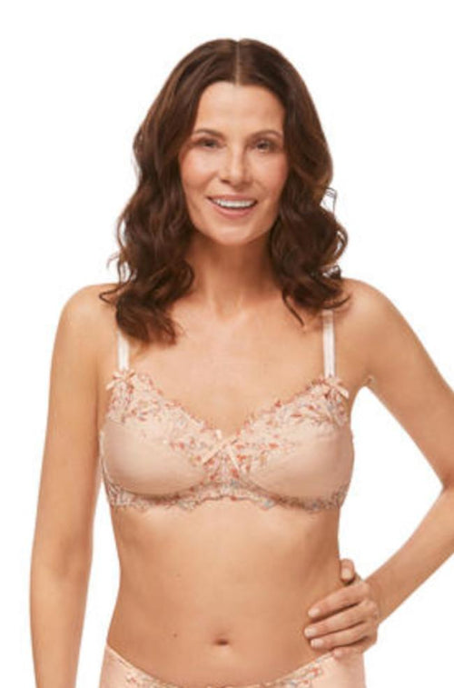 Flower Garden Wirefree Bra (Rose & Nude)