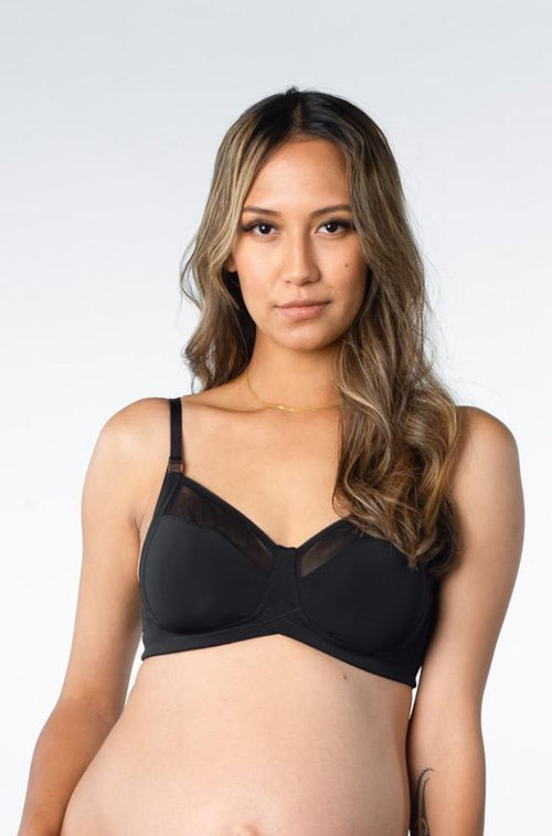 Lunar Eclipse Wirefree Maternity Bra (Black)