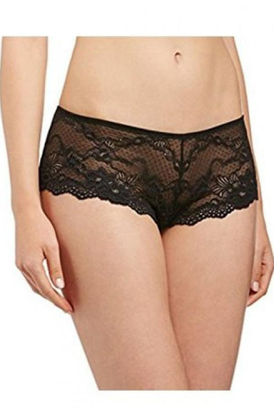 My Fit Lace Brazilian Brief (Black)