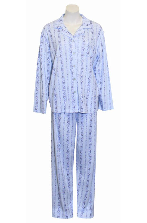 Polly Interlock PJ Set (Blue)