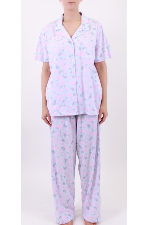Pauline Knit PJs (Blue)