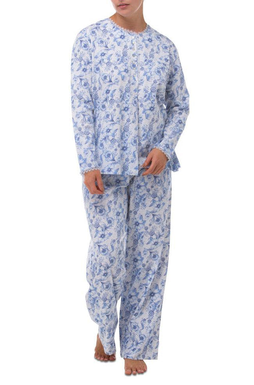 Dahlia Stretchy Cotton PJs (Blue)