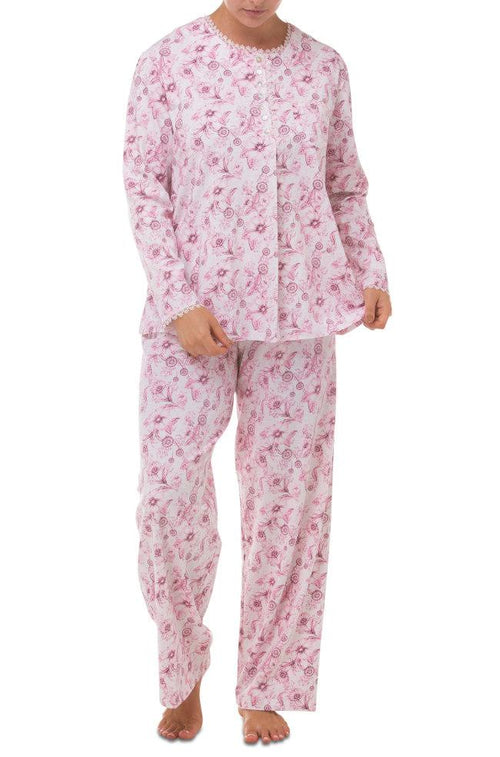 Dahlia Stretchy Cotton PJs (Pink)