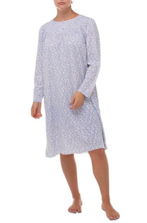 Andrea Easy Care Nightie (Blue Floral)