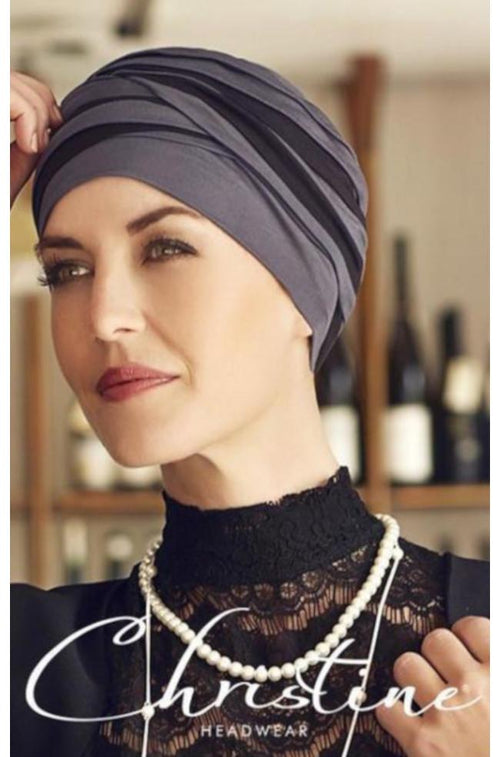 Shanti Turban (Blue/Grey & Black)