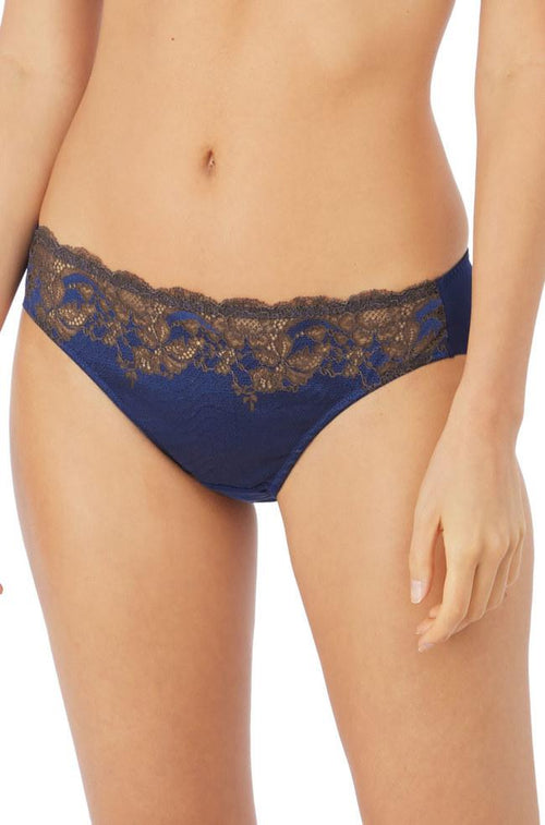 Lace Affair Brief (Blue & Chocolate)