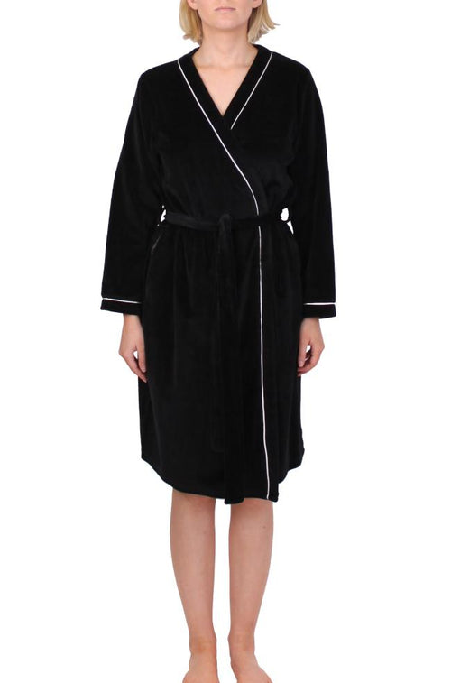 Emma Dressing Gown Wrap (Black)