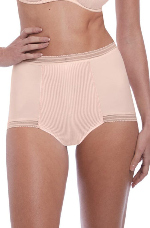 Fusion High Waist Brief (Blush)