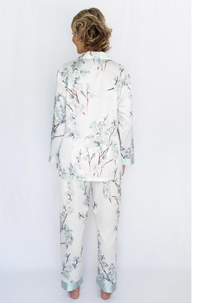 Kobe Brushed Back Satin PJ Set (Floral)